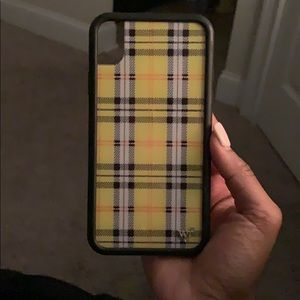 yellow plaid wildflower case IPHONE XR